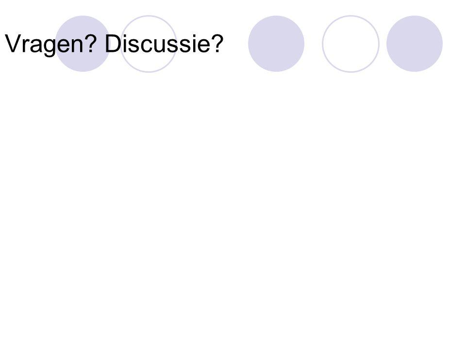 Vragen? Discussie?