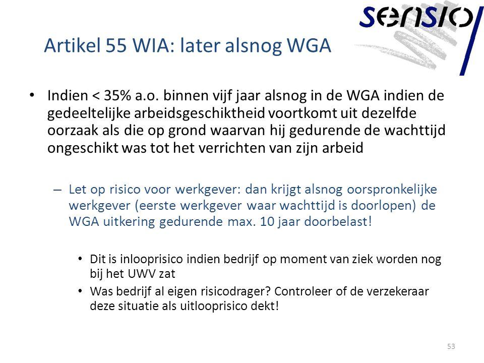 Artikel 55 WIA: later alsnog WGA Indien < 35% a.o.