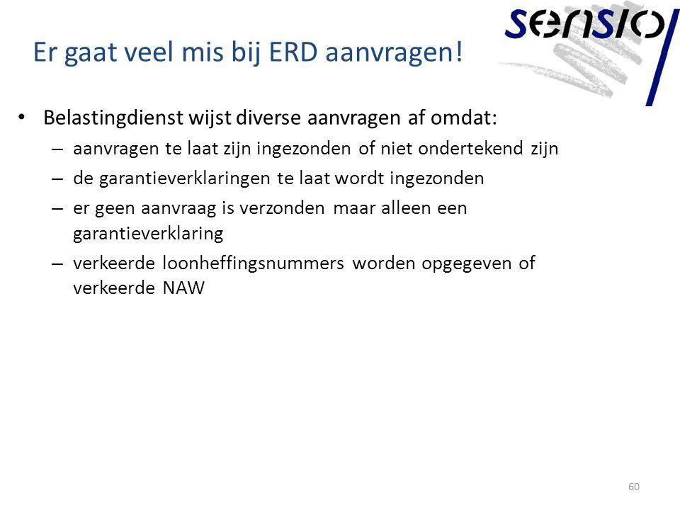 Er gaat veel mis bij ERD aanvragen.
