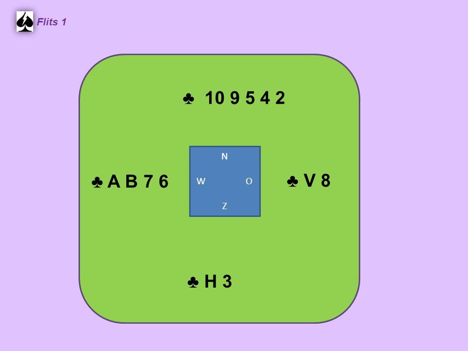 ♣ 10 9 5 4 2 Flits 1 ♣ V 8 ♣ H 3 ♣ A B 7 6 N W O Z