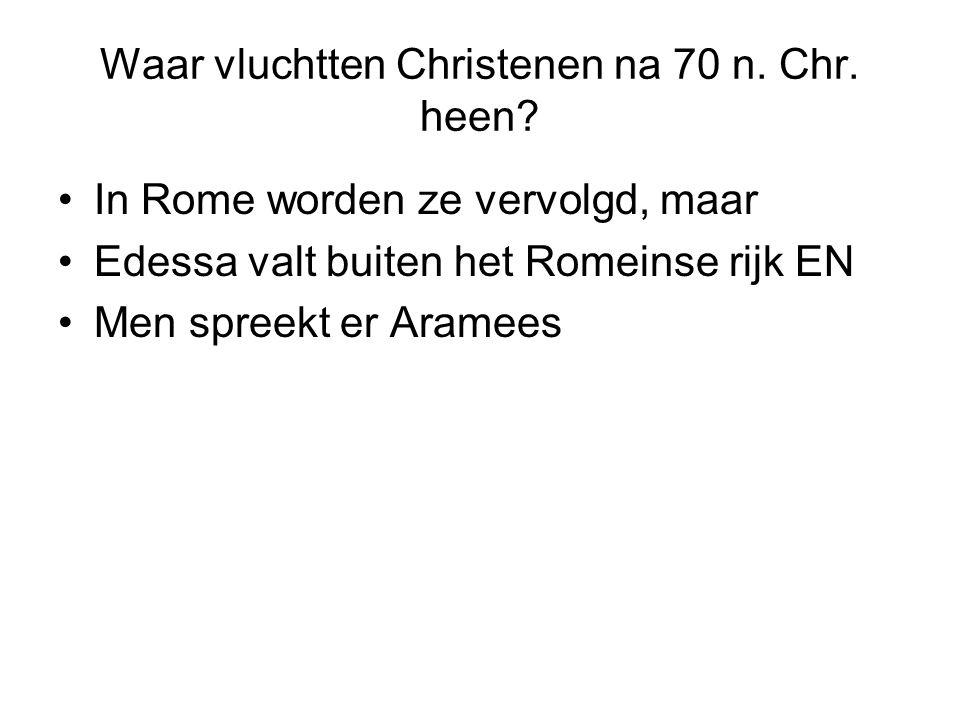 Waar vluchtten Christenen na 70 n. Chr. heen.