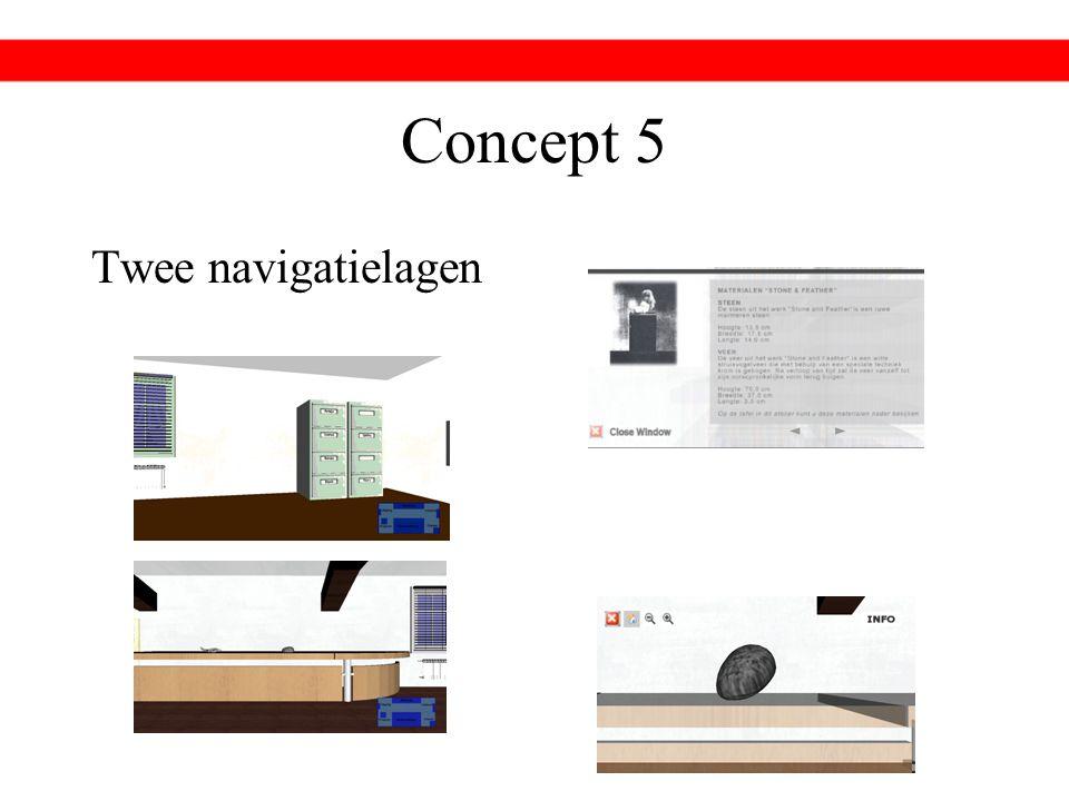 Concept 5 Twee navigatielagen