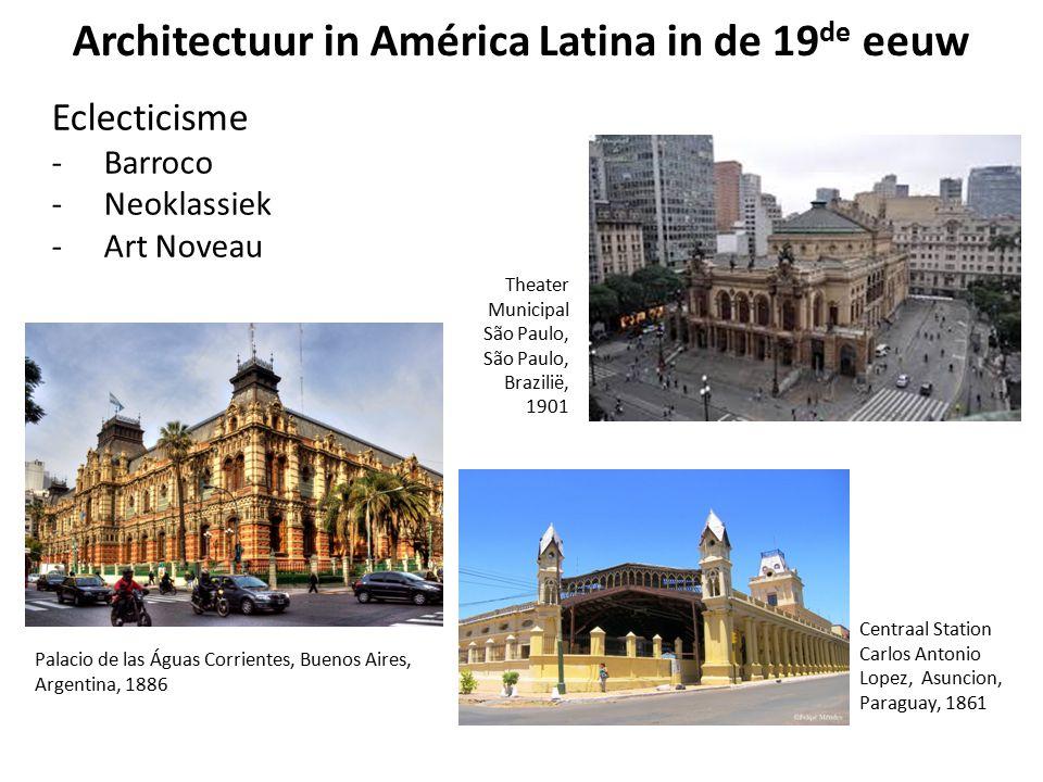 Architectuur in América Latina in de 19 de eeuw Eclecticisme -Barroco -Neoklassiek -Art Noveau Centraal Station Carlos Antonio Lopez, Asuncion, Paragu