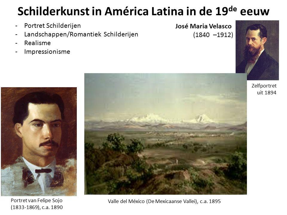 Schilderkunst in América Latina in de 19 de eeuw -Portret Schilderijen -Landschappen/Romantiek Schilderijen -Realisme -Impressionisme Portret van Feli