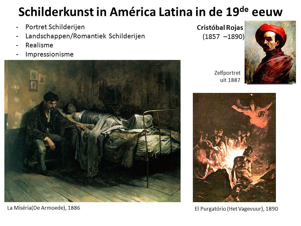 Schilderkunst in América Latina in de 19 de eeuw -Portret Schilderijen -Landschappen/Romantiek Schilderijen -Realisme -Impressionisme El Purgatório (H