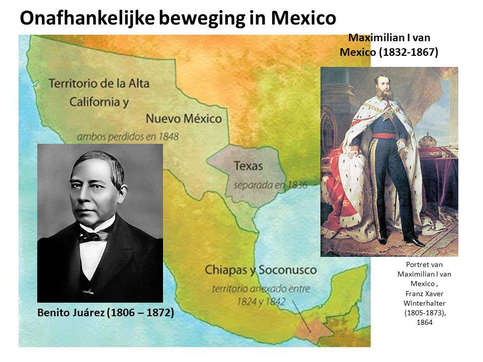Onafhankelijke beweging in Mexico Benito Juárez (1806 – 1872) Portret van Maximilian I van Mexico, Franz Xaver Winterhalter (1805-1873), 1864 Maximili