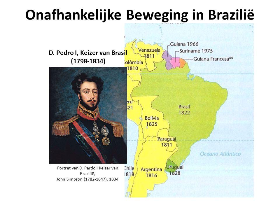 Onafhankelijke Beweging in Brazilië Portret van D. Perdo I Keizer van Brazilië, John Simpson (1782-1847), 1834 D. Pedro I, Keizer van Brasil (1798-183