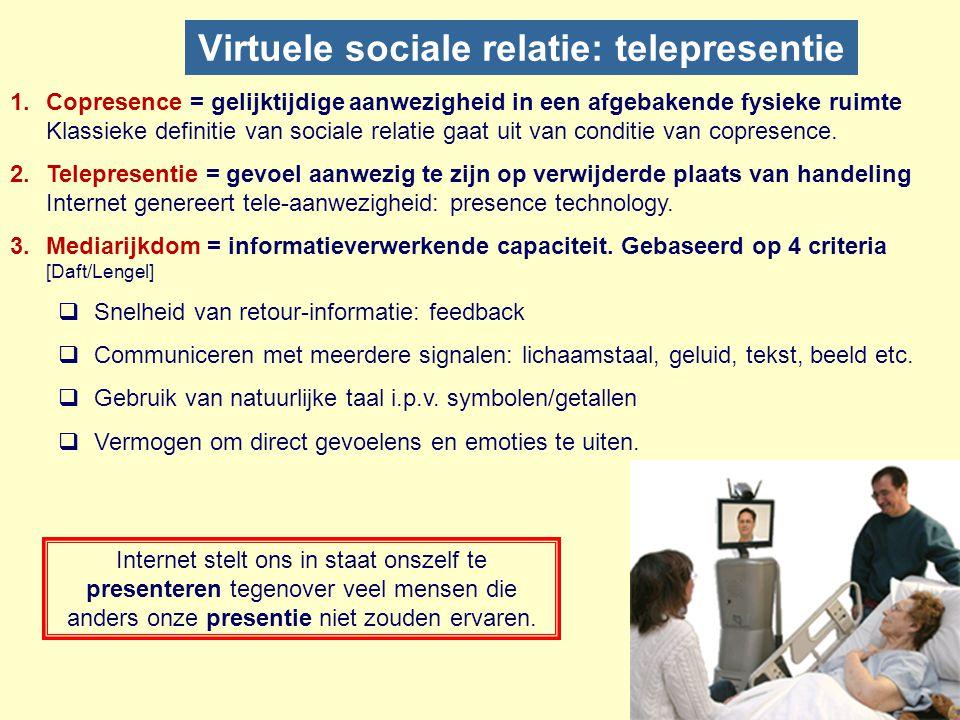 EenVelen Een Bilateraal een-op-een principe van persoonlijke communicatie. Klassiek: brief, telegraaf en telefoon. Modern: e-mail, skype, IM. Radiaal-