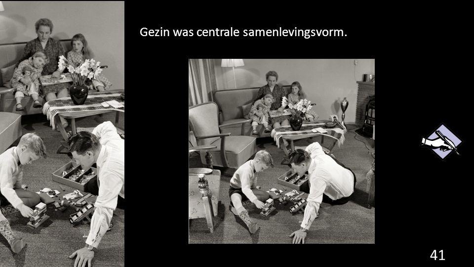 Gezin was centrale samenlevingsvorm. 41