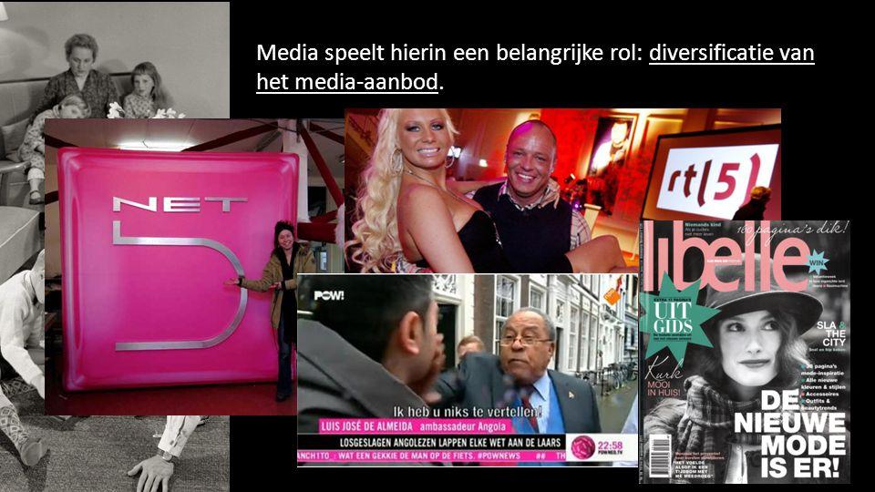 Media speelt hierin een belangrijke rol: diversificatie van het media-aanbod. 49
