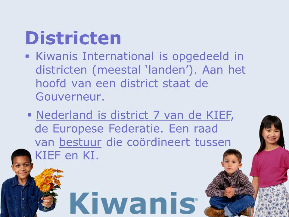 Districten  Kiwanis International is opgedeeld in districten (meestal 'landen').