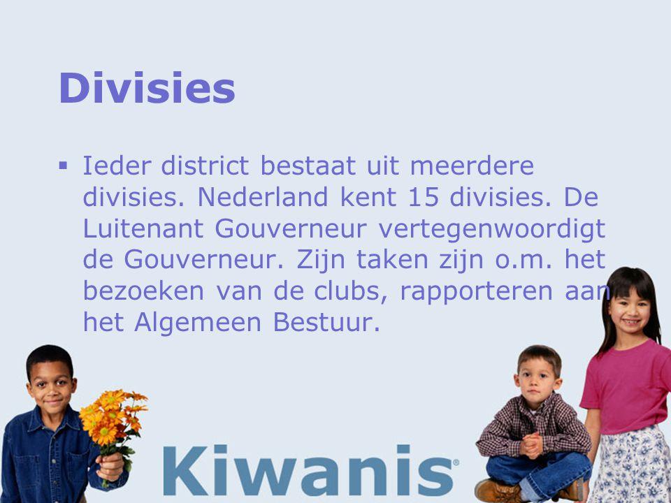 Divisies  Ieder district bestaat uit meerdere divisies.