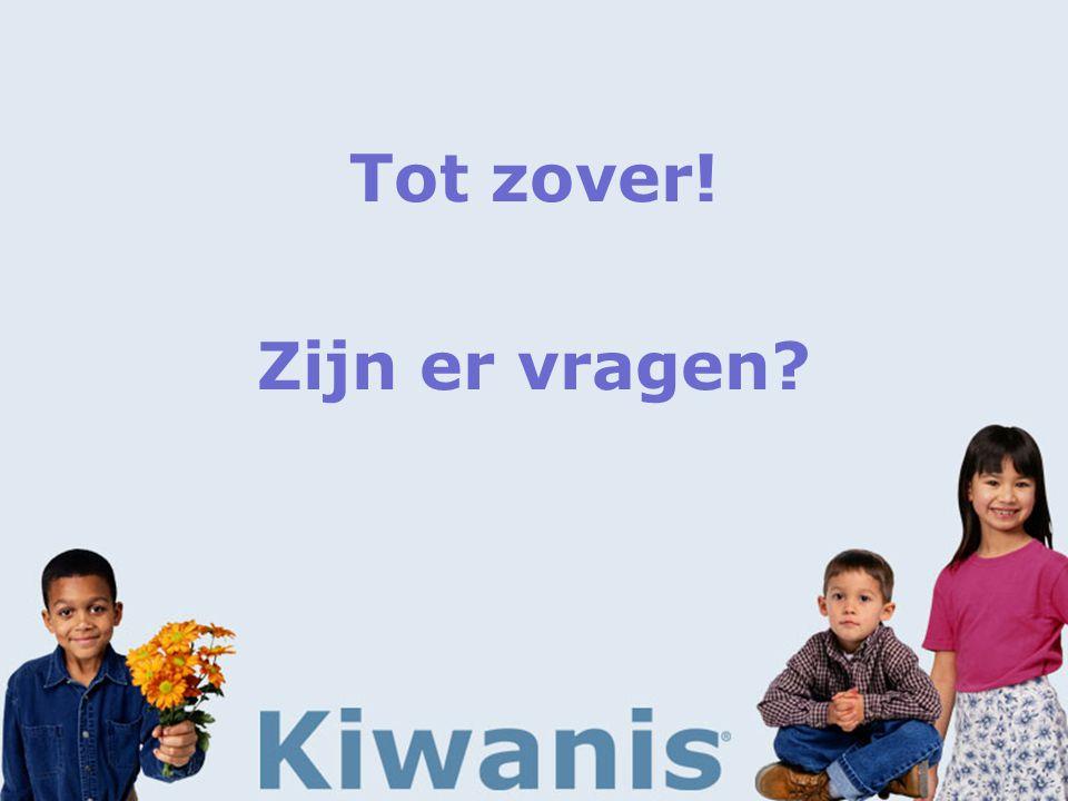 Wat is Kiwanis nog meer?  Gezelligheid  Voordelen > voor leden  Verplichtingen > van leden