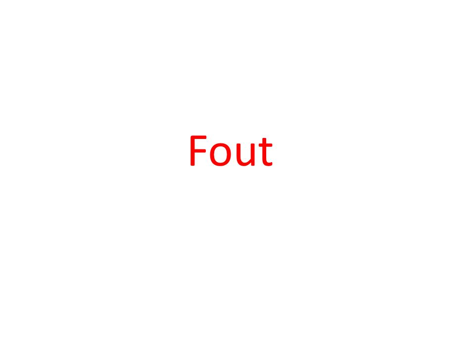 Fout