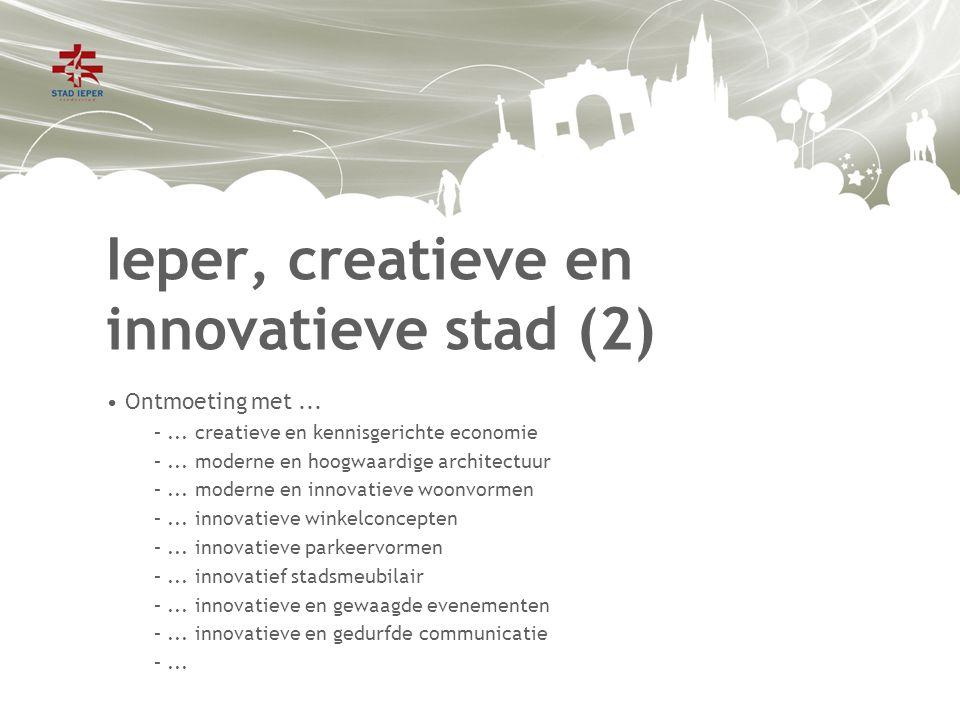 Ieper, creatieve en innovatieve stad (2) Ontmoeting met...