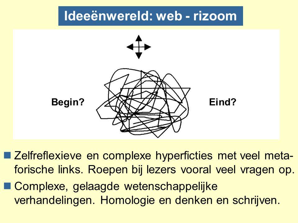 Het wereldwijde web Tim Berners-Lee (1989) Gebruikersinterface voor alle platforms Toegang tot documenten en informatieprotocollen Netwerkgebruiker krijgt toegang tot (alle soorten) informatie Hypertekstueel schrijven zonder tools?