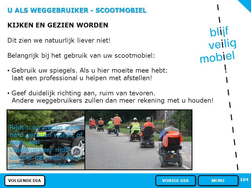 U ALS WEGGEBRUIKER - SCOOTMOBIEL PARKEREN Met een gehandicaptenvoertuig mag u op plaatsen waar bord E1 (het onderste bord op de foto) staat, wèl parke