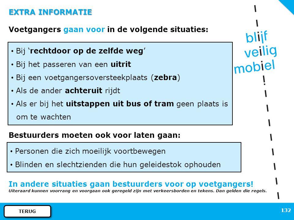 131 EXTRA INFORMATIE (BROM)FIETSPADEN bromfiets snorfiets fiets niet verplichtverplicht verboden fiets: ook fiets met elektrische trapondersteuning sn