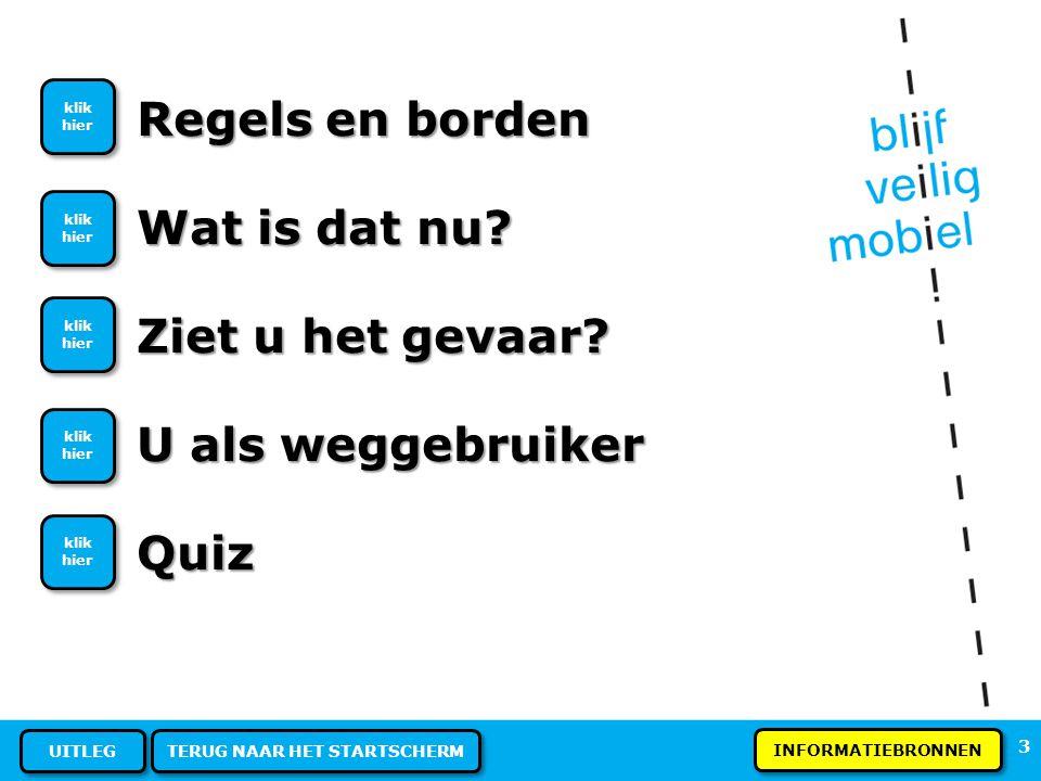 33 REGELS EN BORDEN - Verkeersregels Deze fietsendrager heeft geen mistlicht, mag dat.