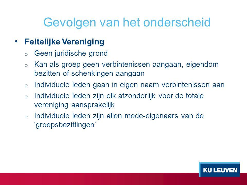 VZW o Rechtspersoon: afgescheiden vermogen (rechtspersonenbelasting + evt.