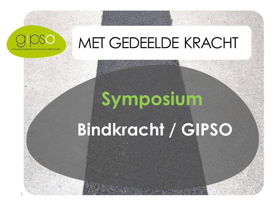 1 MET GEDEELDE KRACHT Symposium Bindkracht / GIPSO