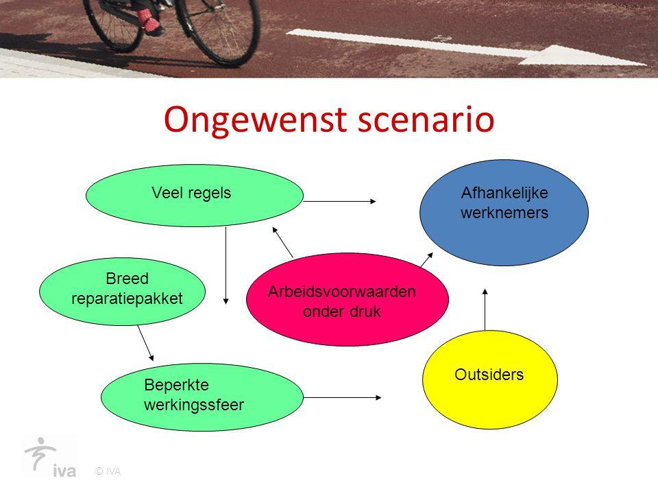 © IVA Ongewenst scenario Veel regels Breed reparatiepakket Beperkte werkingssfeer Arbeidsvoorwaarden onder druk Outsiders Afhankelijke werknemers