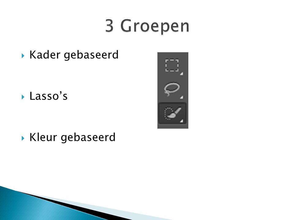 Rechthoek Rechthoek, vast of variabel Tip: Shift toets ingedrukt geeft vaste verhoudingen Opties
