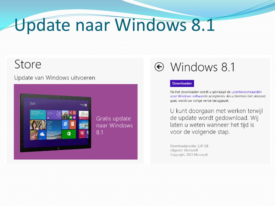 Update naar Windows 8.1