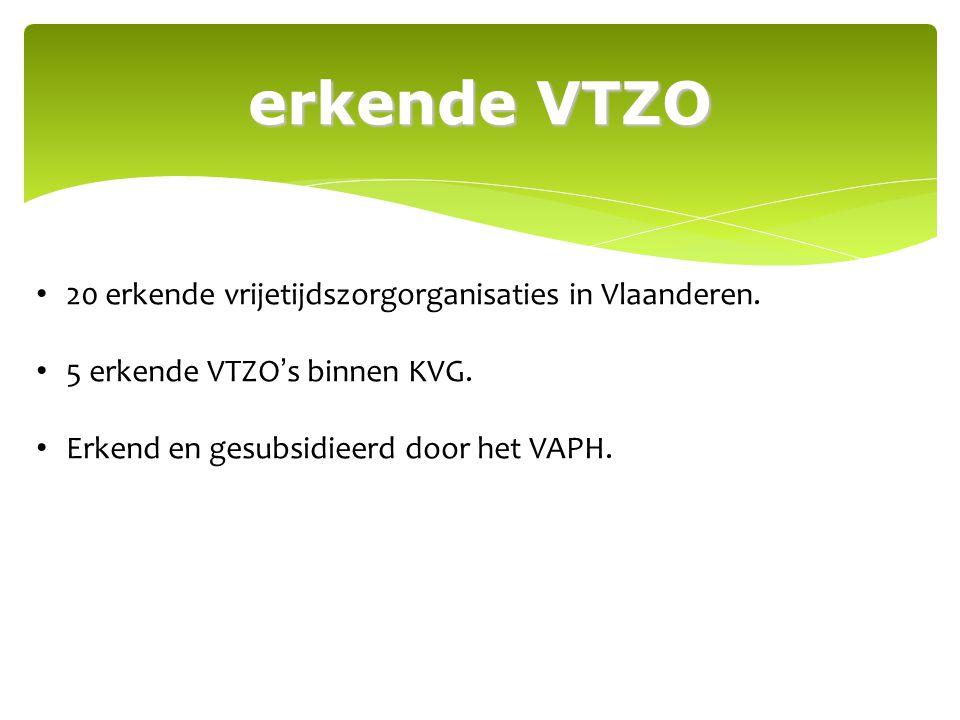 ontstaan VTB KVG kreeg altijd veel vragen i.v.m.vrije tijd => grote stijging.
