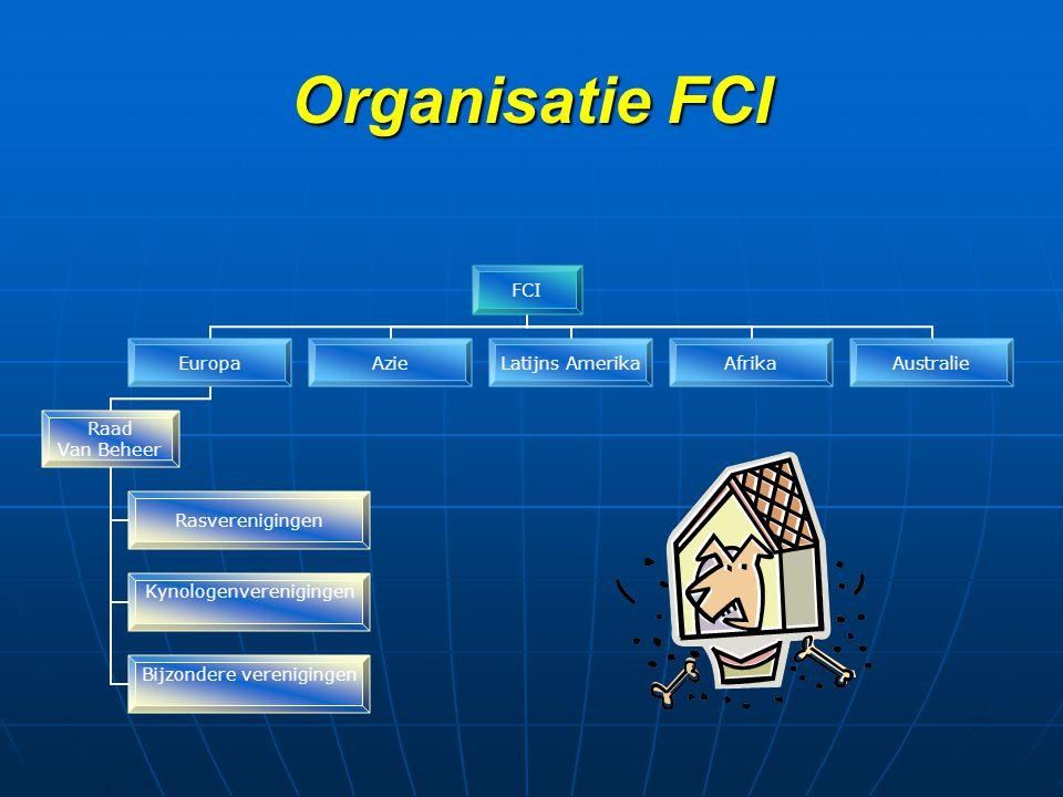 Organisatie FCI FCI Europa Raad Van Beheer Rasverenigingen Kynologenverenigingen Bijzondere verenigingen AzieLatijns AmerikaAfrikaAustralie