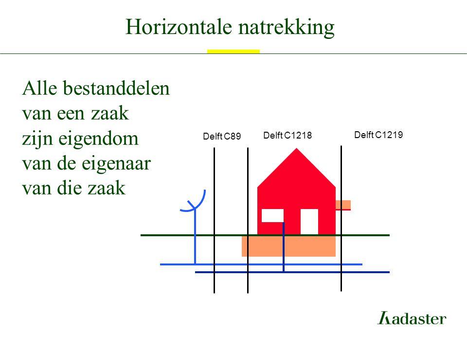 Horizontale natrekking Alle bestanddelen van een zaak zijn eigendom van de eigenaar van die zaak Delft C1218 Delft C1219 Delft C89