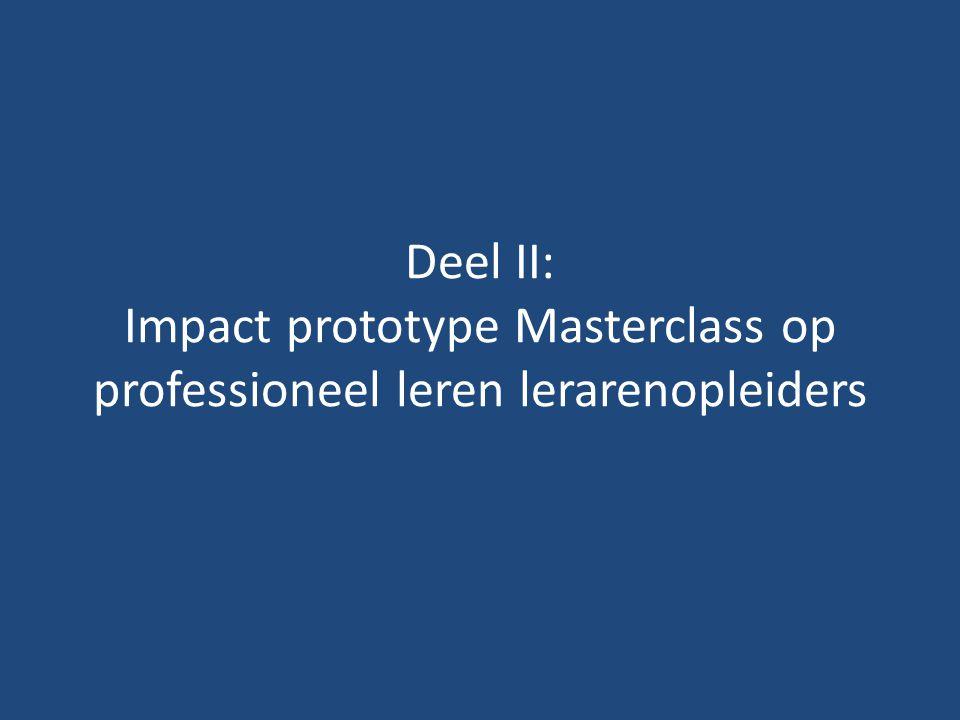 Deel II: Impact prototype Masterclass op professioneel leren lerarenopleiders
