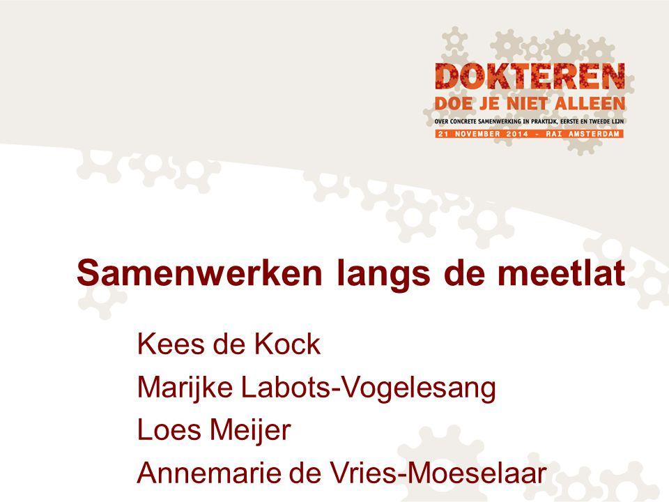 Samenwerken langs de meetlat Kees de Kock Marijke Labots-Vogelesang Loes Meijer Annemarie de Vries-Moeselaar