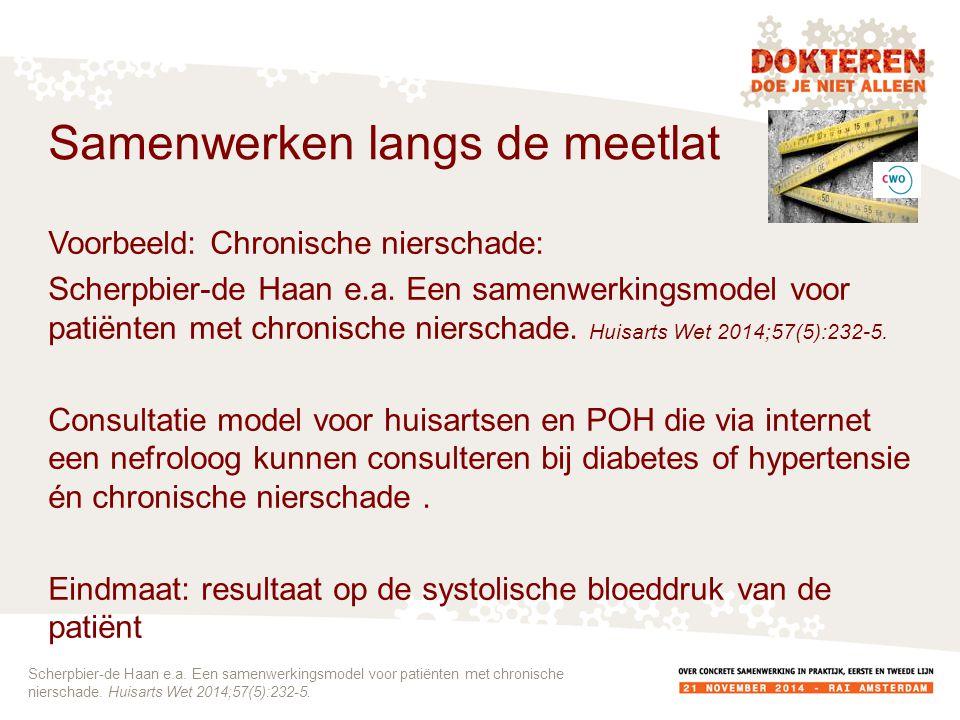 Voorbeeld: Chronische nierschade: Scherpbier-de Haan e.a.