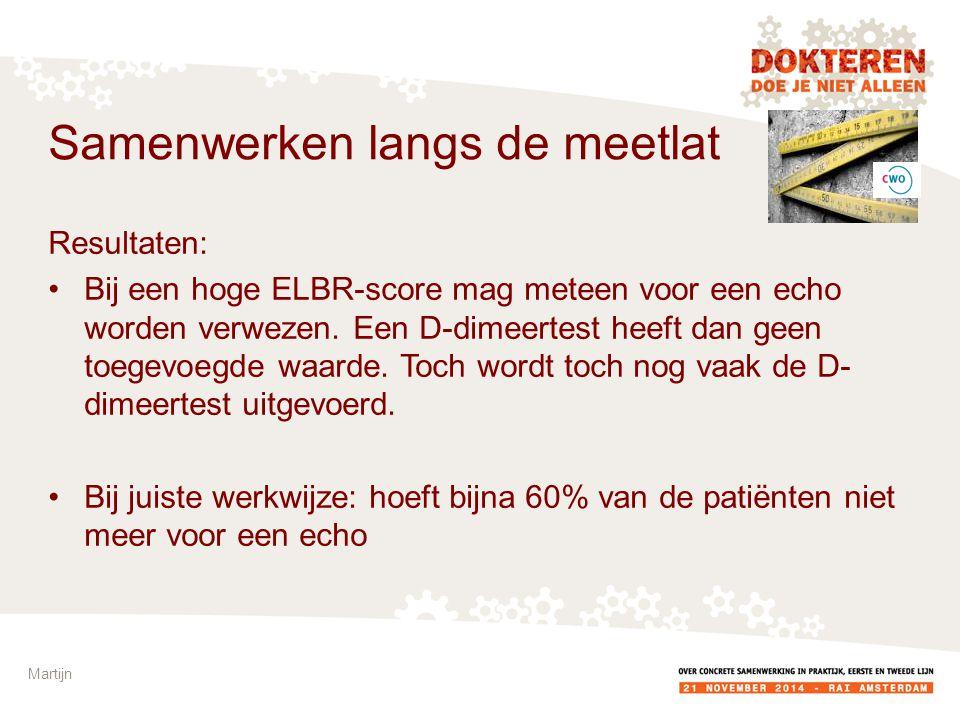 Resultaten: Bij een hoge ELBR-score mag meteen voor een echo worden verwezen.