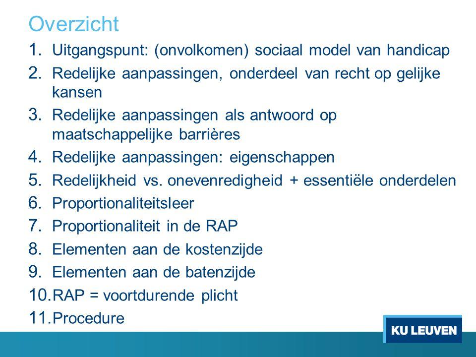 1.Uitgangspunt: (onvolkomen) sociaal model van handicap Omschrijving (!) art.