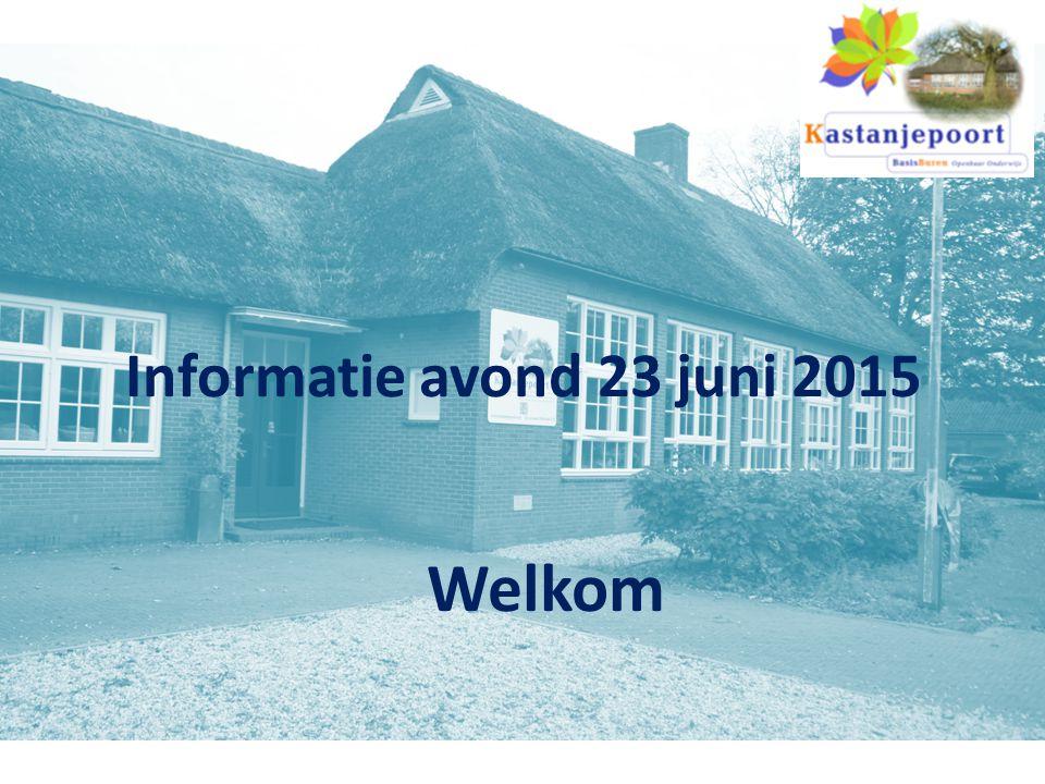 Informatie avond 23 juni 2015 Welkom