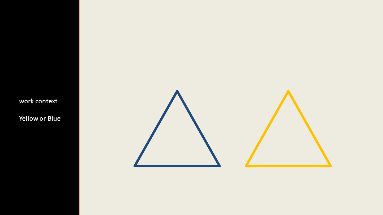 work context Yellow or Blue