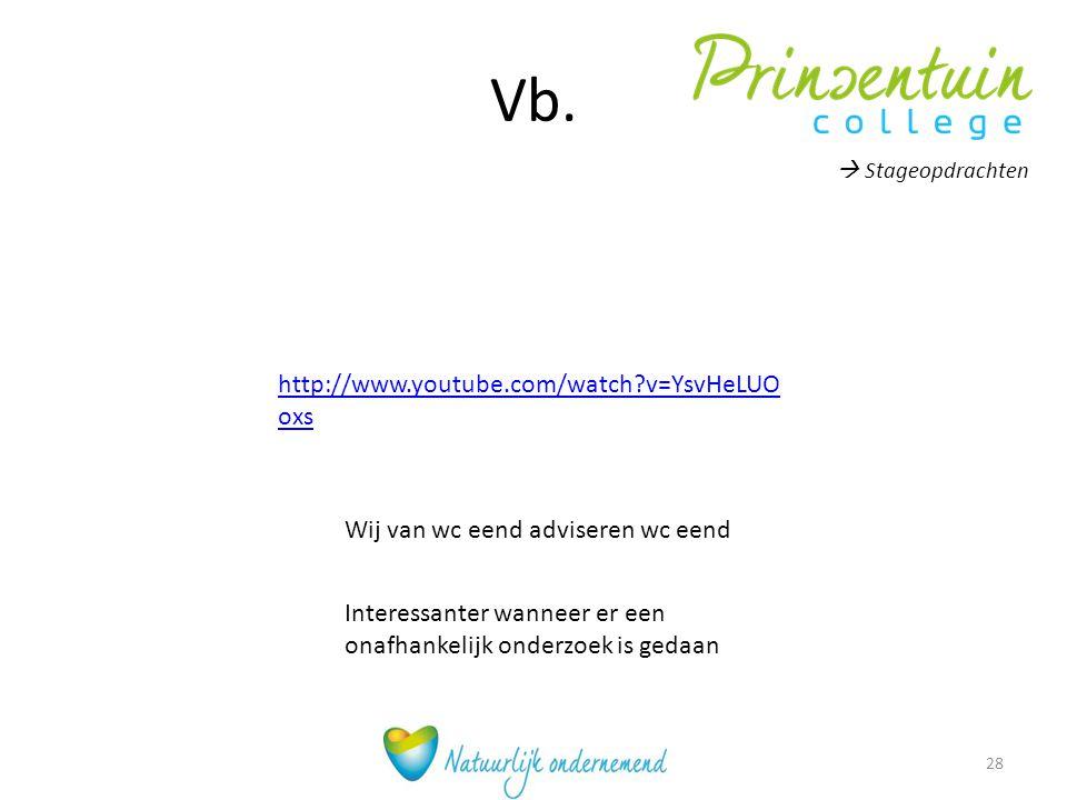 Vb. http://www.youtube.com/watch?v=YsvHeLUO oxs Wij van wc eend adviseren wc eend Interessanter wanneer er een onafhankelijk onderzoek is gedaan  Sta