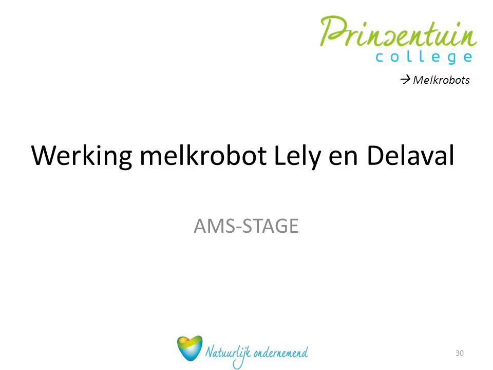 Werking melkrobot Lely en Delaval AMS-STAGE  Melkrobots 30