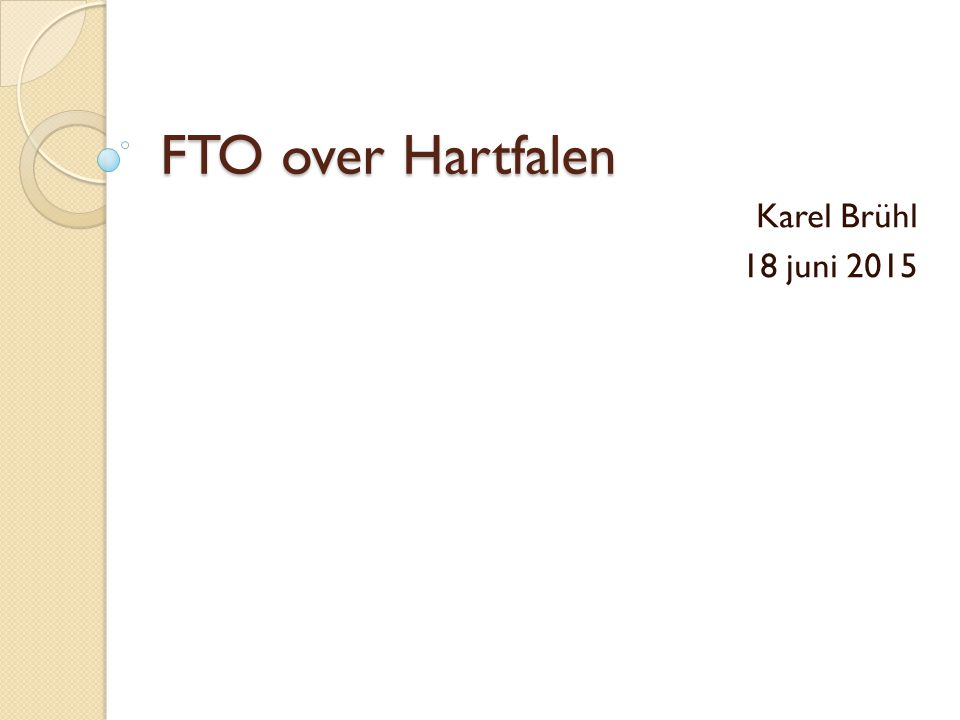 FTO over Hartfalen Karel Brühl 18 juni 2015