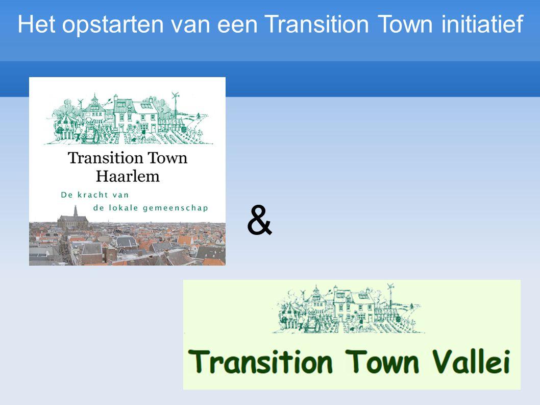 & Het opstarten van een Transition Town initiatief