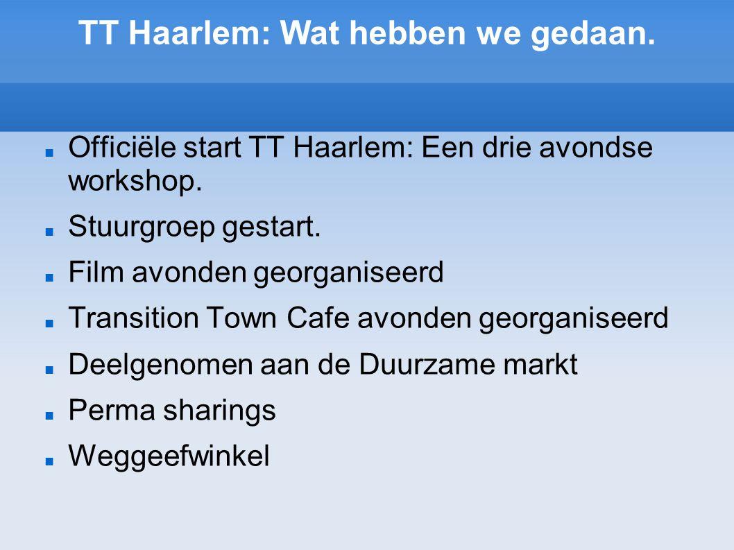 Officiële start TT Haarlem: Een drie avondse workshop.
