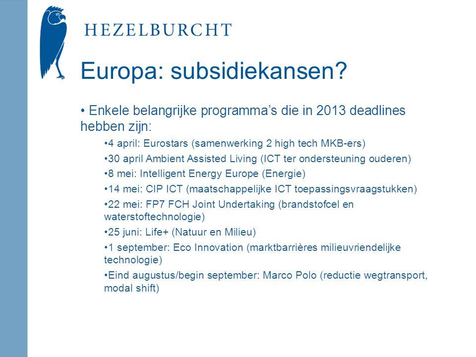 Europa: subsidiekansen.