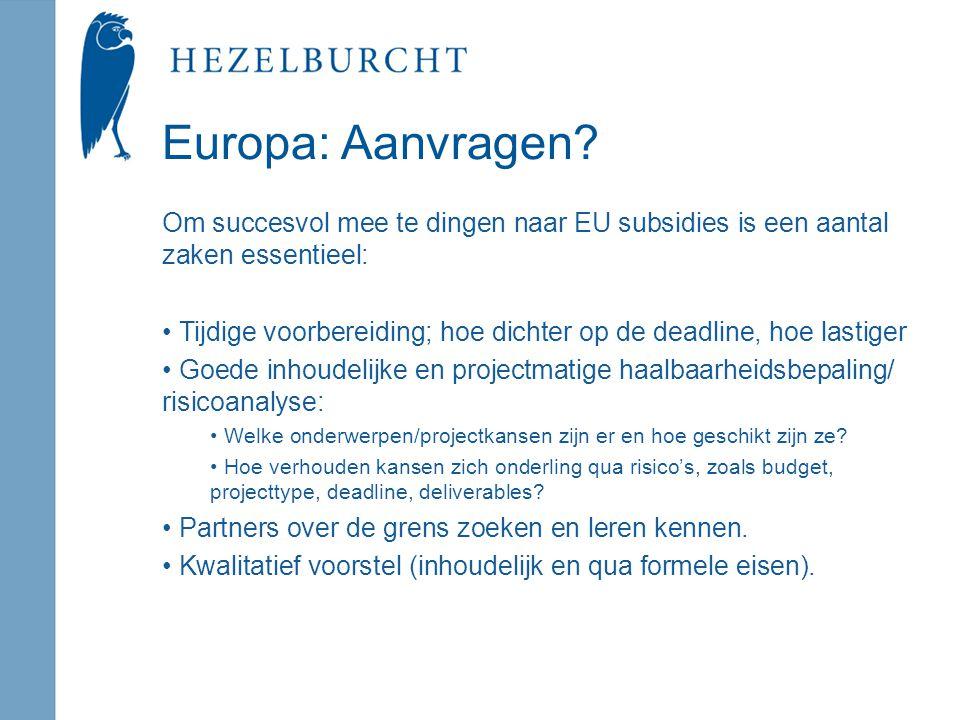 Europa: Aanvragen.