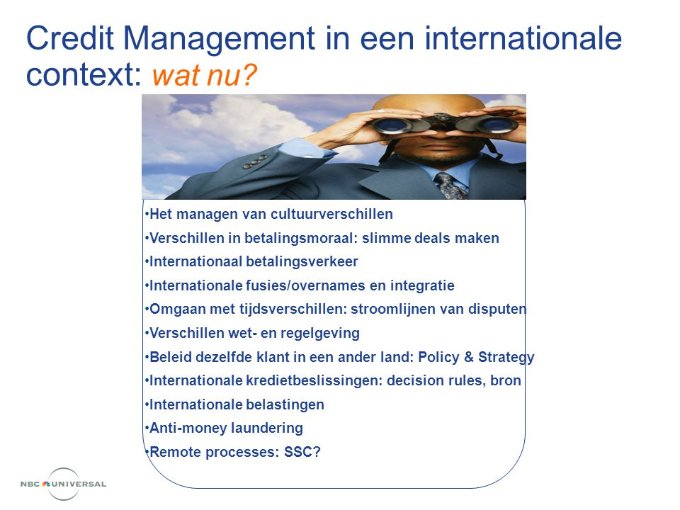 Credit Management in een internationale context: wat nu.