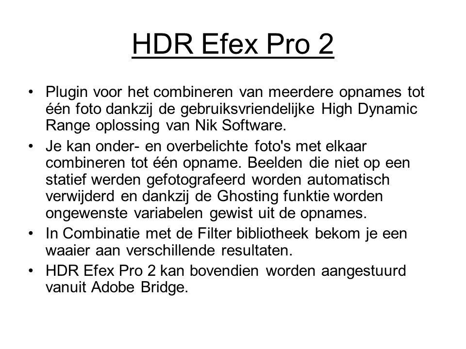 HDR Efex Pro 2 Plugin voor het combineren van meerdere opnames tot één foto dankzij de gebruiksvriendelijke High Dynamic Range oplossing van Nik Softw