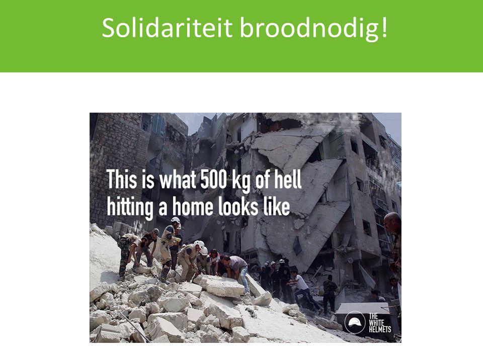 Solidariteit broodnodig!