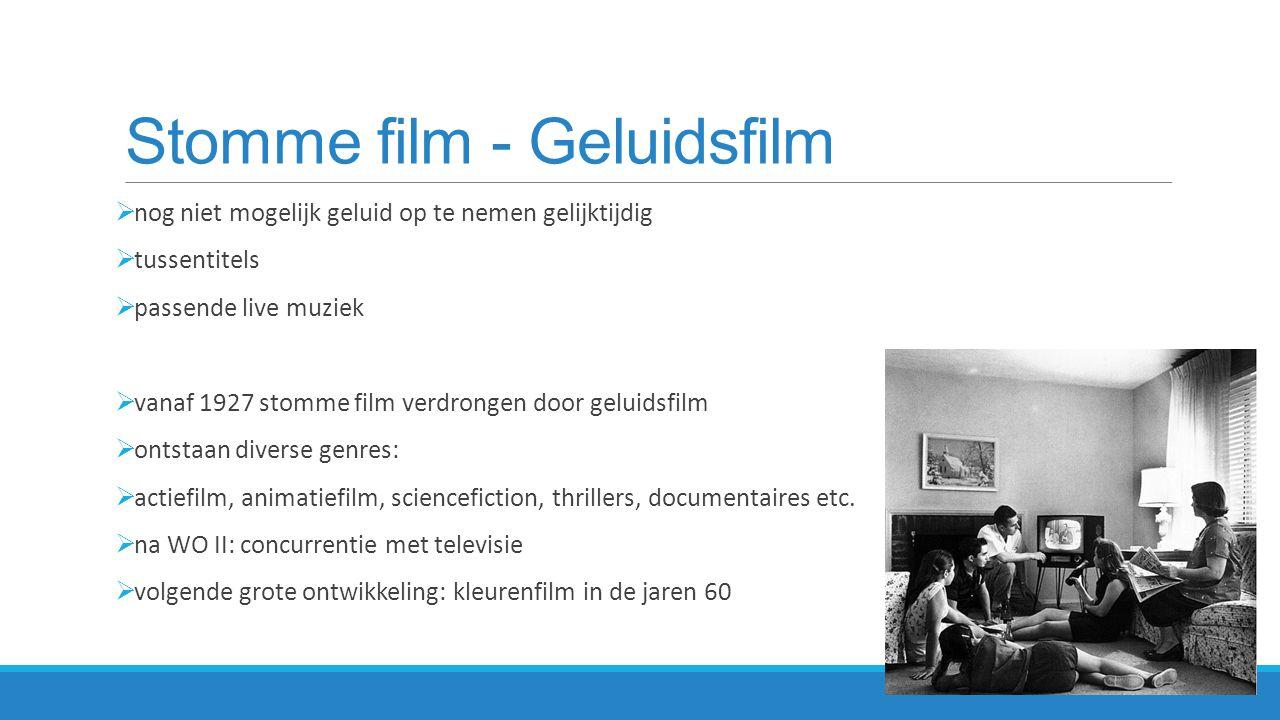 Georges Méliès Een reis naar de maan (1902) Experiment met film en special effects gebaseerd op boek Jules Verne  stop-motiontechniek om het effect te laten ontstaan dat de raket op de maan geland is http://www.youtube.com/watch?v=_FrdVdKlxUk (6.00 min landing op de maan)