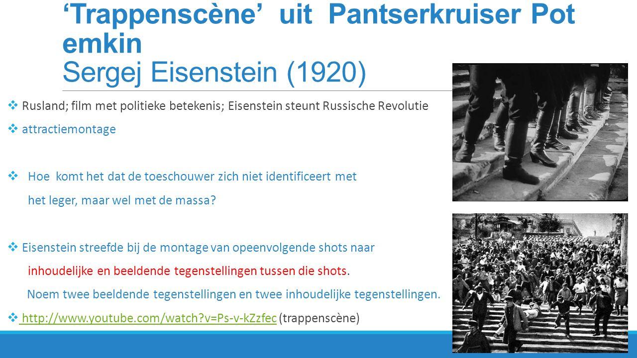 Voorgeschiedenis van de film Eadweard Muybridge  cinematografie heeft zich vanuit de fotografie ontwikkeld  filmprojector: minimaal 24 beeldjes per seconde voor een vloeiende beweging  Muybridge: fotograferen van bewegingen als onderzoek.